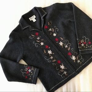 Pendleton 💯% Merino Wool Cardigan Vintage Large